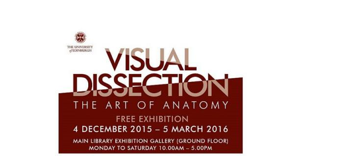 'Visual Dissection' exhibition poster