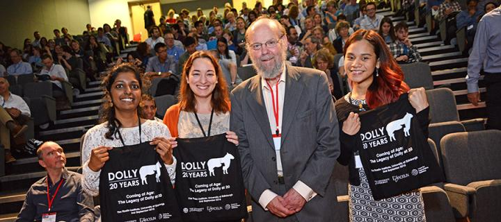 Ian Wilmut and others at the Dolly at 20 symposium