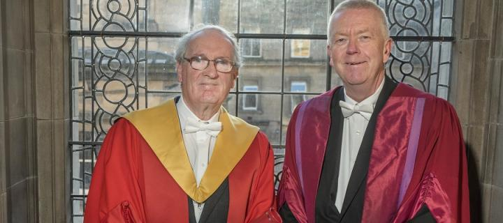Donald MacDonald and Professor Sir John Savill