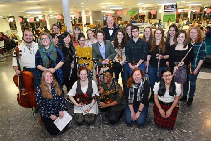 Vet School Burns Night Students