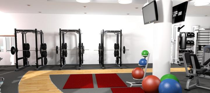 An artist's impression of the gym at Easter Bush