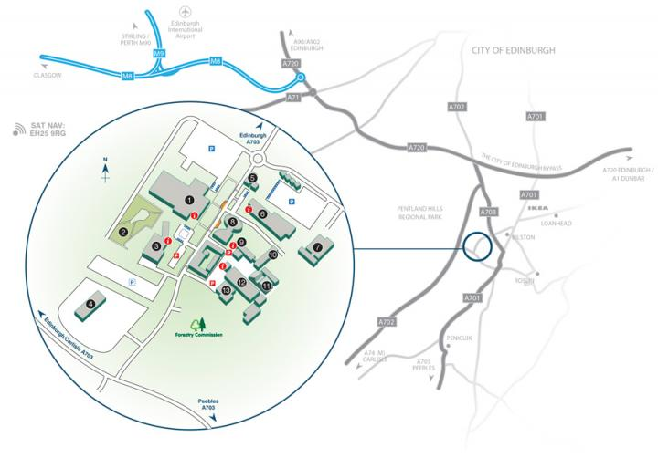 Easter Bush Campus map