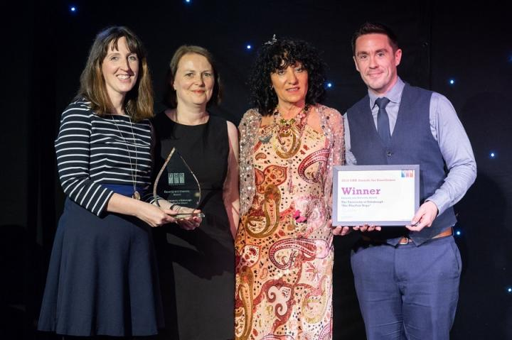 Edinburgh team with their University Human Resources (UHR) 2018 Award