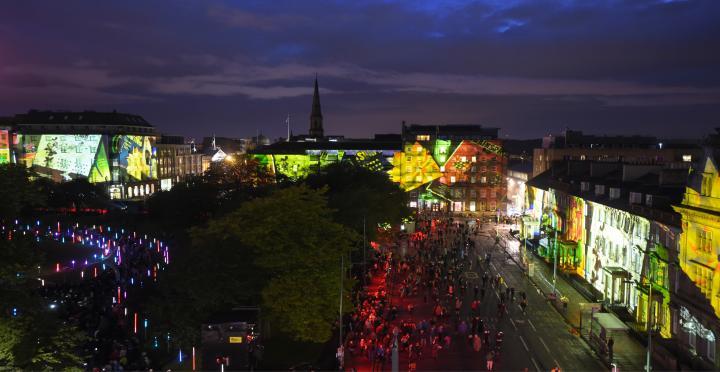 Edinburgh International Festival Bloom opening event August 2017