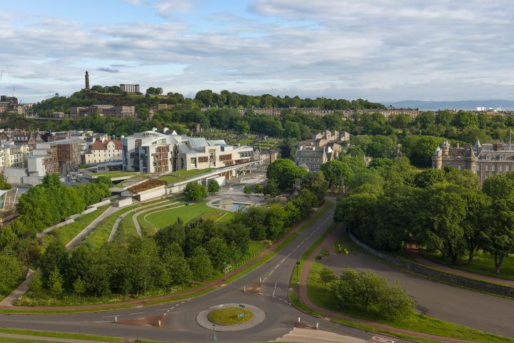 The view of Holyrood from Arthur's Seat
