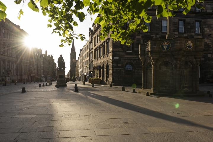 A view down the Royal Mile