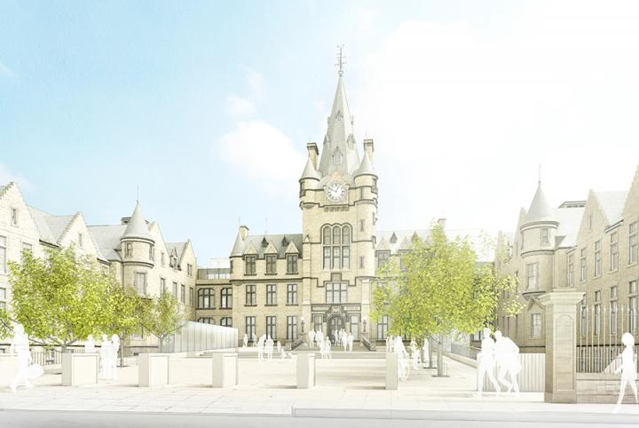 Edinburgh Futures Institute north square artist's impression