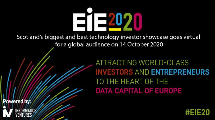 "EIE20 poster explaining its aim: ""Attracting world-class investors and entrepreneurs to the heart of the data capital of Europe"""