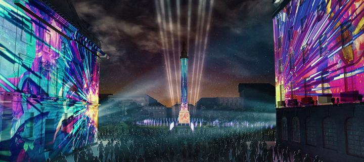 "Edinburgh International Festival's spectacular opening event ""Bloom""."