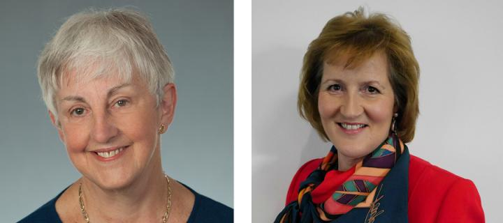Dr Alison Elliot CBE and Barbara Allison CBE