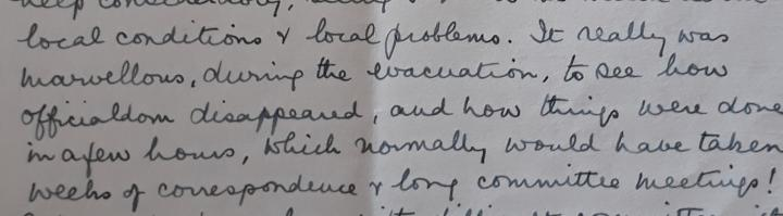Excerpt from Department of Social Work archives