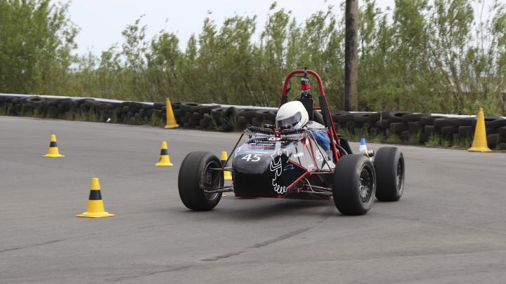 The Edinburgh University Formula Student car on track