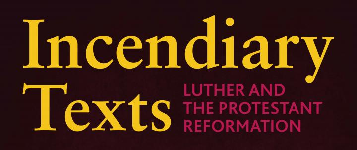Incendiary texts exhibition title