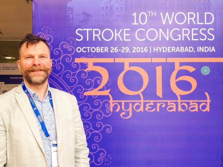 Prof Andrew Farrall at the World Stroke Congress on 26 Oct 2016