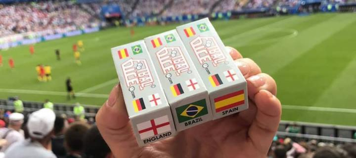 Football Dice at a game