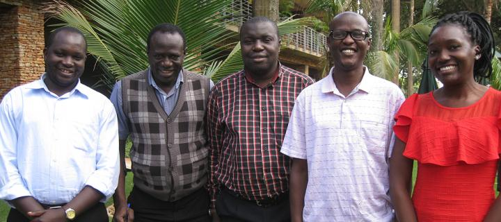 5 of the 6 Flmeing Fund fellows in Uganda