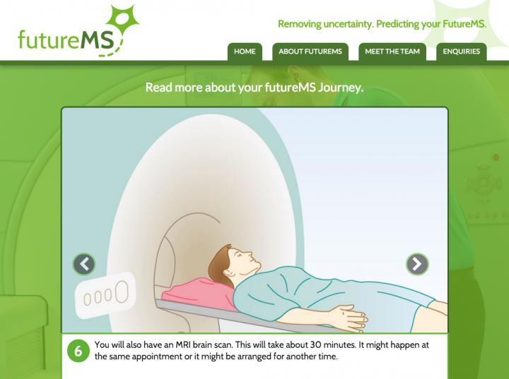 futureMS patient journey screenshot