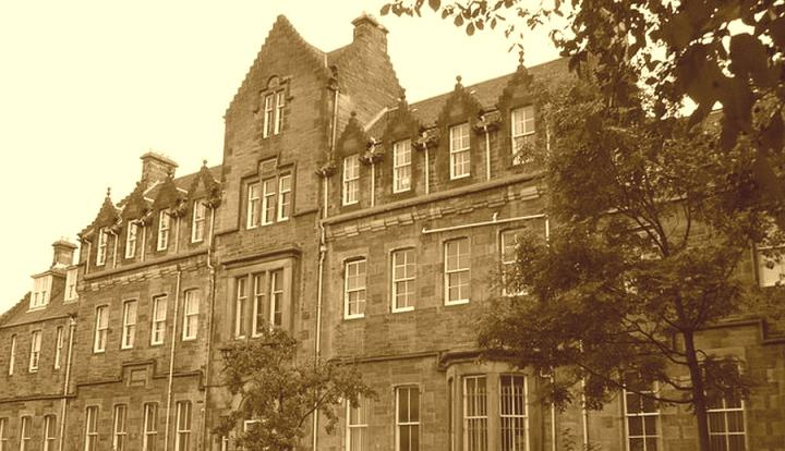 Modern sepia-look photograph of Springwell House, previously Edinburgh Magdalene Asylum