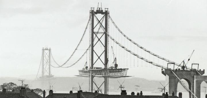 Forth Road Bridge under construction