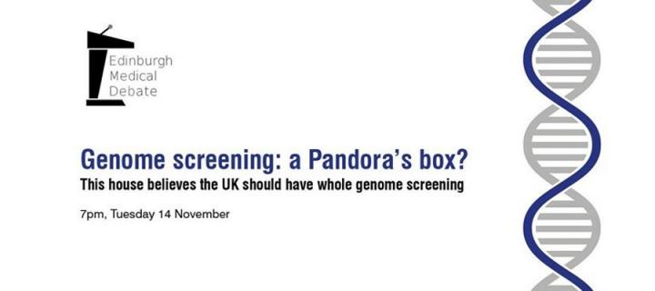 The flyer advertising the genome debate
