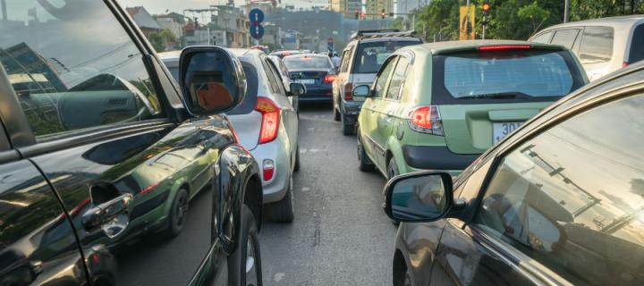 Cars are a common source of air pollution.