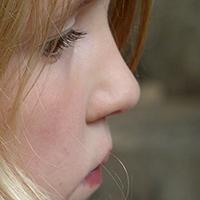 Girl's nose in profile