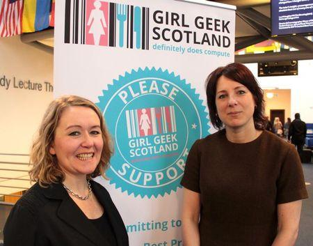 Photograph of Morna Simpson (Girl Geek Scotland) and Melissa Highton (Director of Learning, Teaching and Web Services)