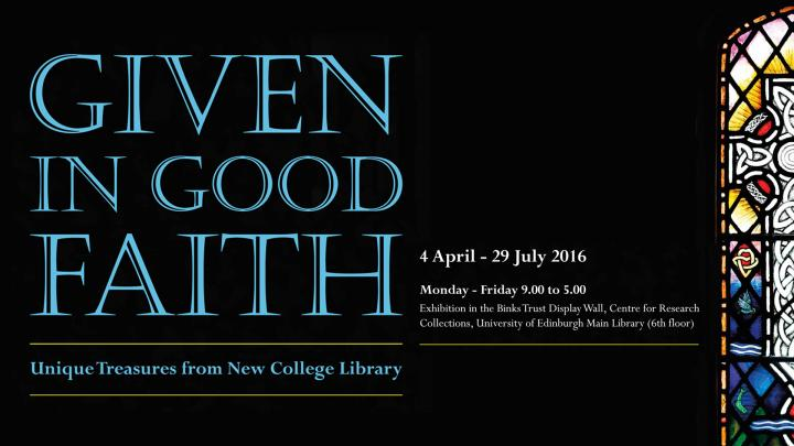 Given in Good Faith exhibition details
