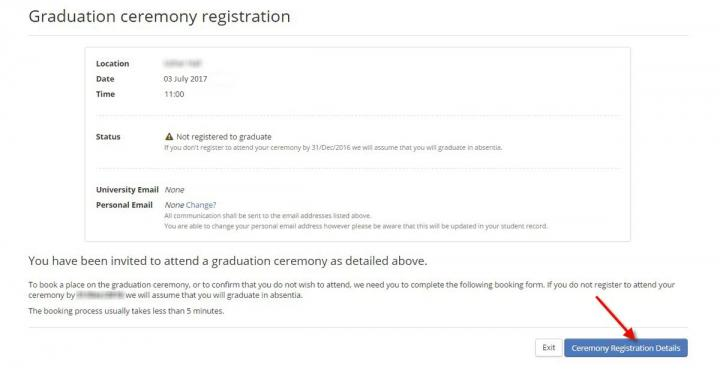 Registering to attend your Graduation ceremony | The University of ...