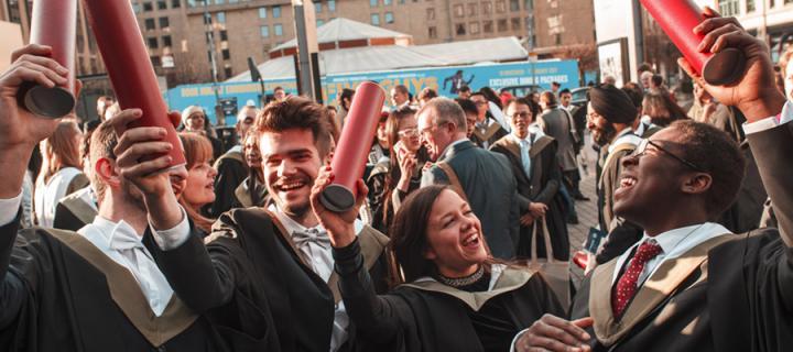 Summer graduates celebrating