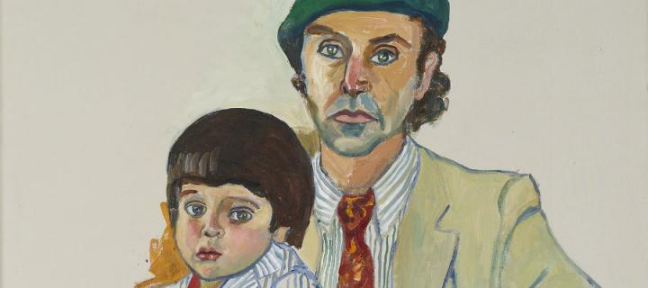 Hartley and Andrew, 1983 (Oil on Canvas, 121.9x86.3cm)