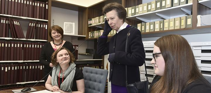 Photo of Princess Royal with students