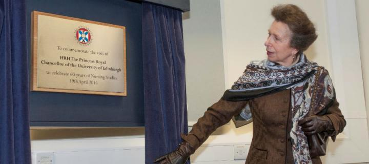 HRH The Princess Royal unveils plaque at Nursing Studies