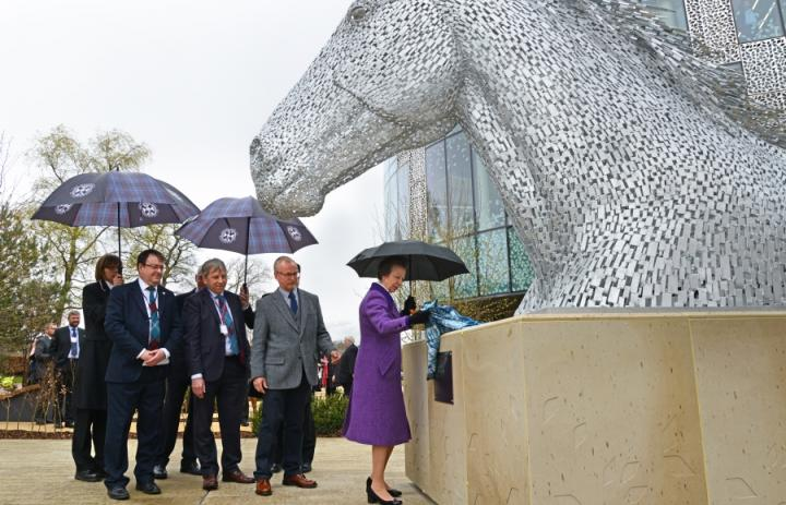 HRH The Princess Royal unveils 'Canter'