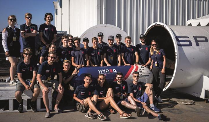 HypED student team at SpaceX headquarters