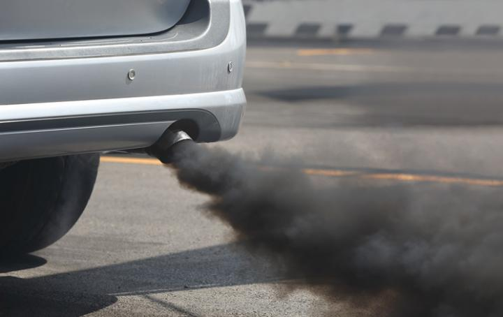 Pollution from car exhaust