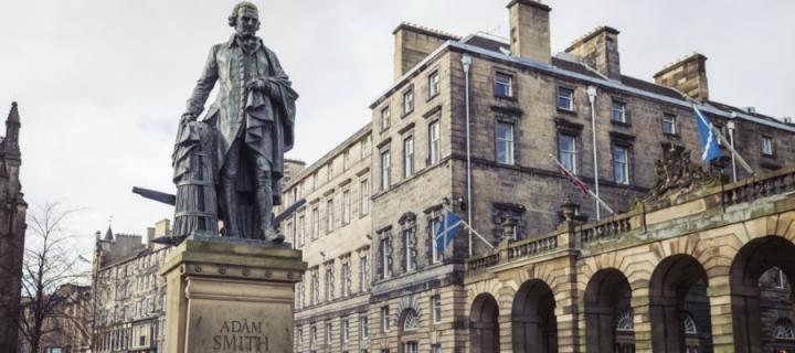 Adam Smith statue on Edinburgh's High Street