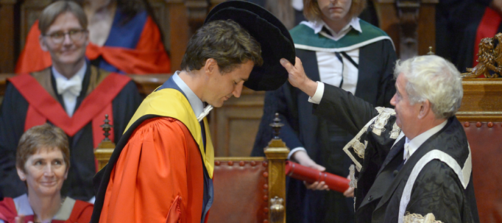 Canadian PM Justin Trudeau receives honorary degree