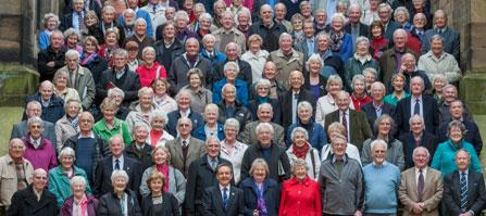 Group photo taken at a Lothian Birth Cohort reunion