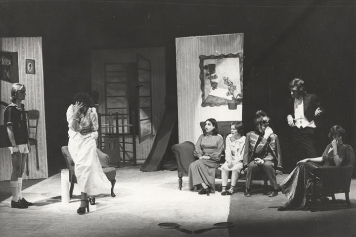 Marka in a stage production of Victor