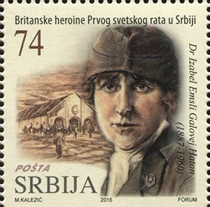Isabel Emslie Hutton on a Serbian postage stamp