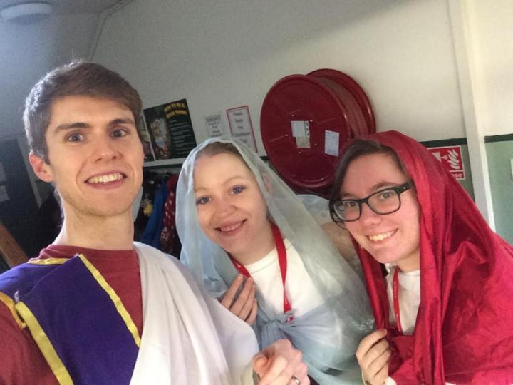 Students in Roman garb