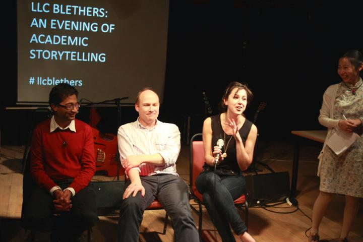Photo of a storytelling evening