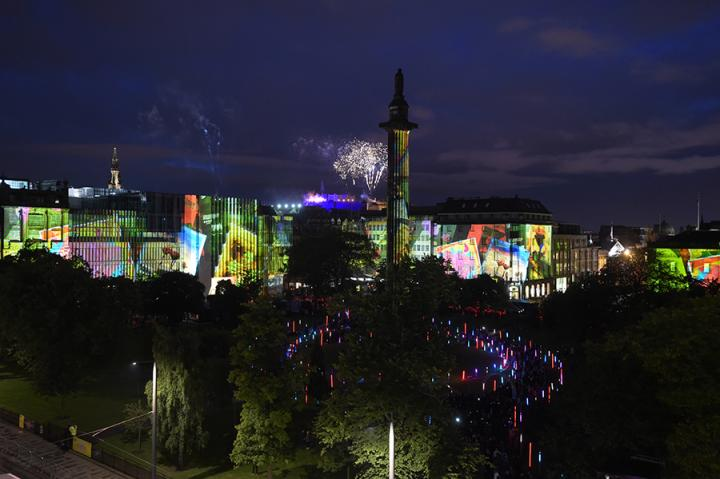 Edinburgh International Festival opening event in St Andrew Square Bloom 2017