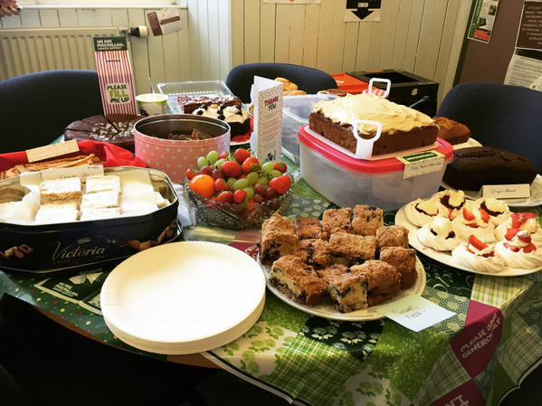 Cakes and treats for the fundraiser