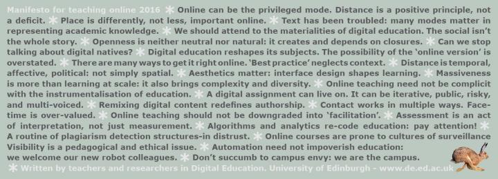 manifesto for teaching online 2016