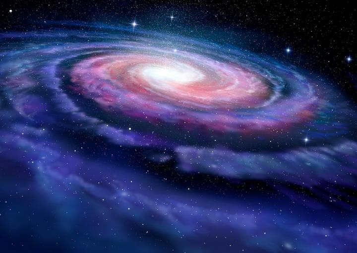 Milky Way spiral galaxy