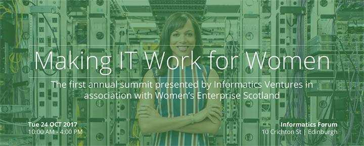 Poster header - Making IT work for women