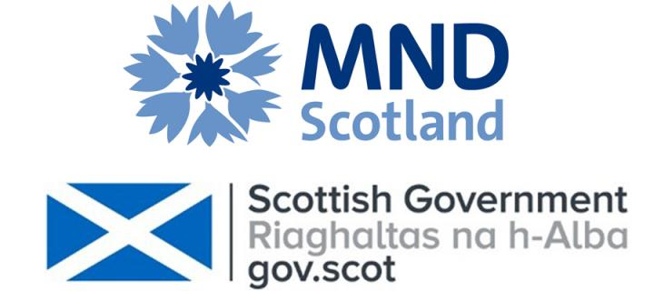 MND Scotland and Scottish Government logos