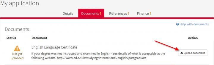 Document uploading | The University of Edinburgh